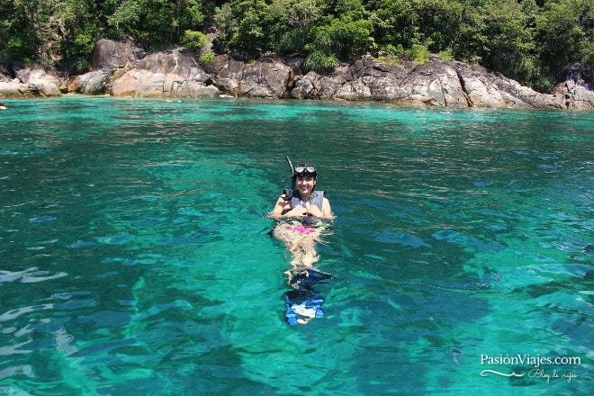 ¡Patos al agua! Snorkeling en Koh Yang.